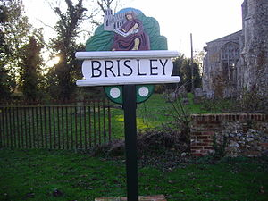 Brisley - Image: Brisley Village Sign 7th November 2007 (1)
