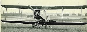 1912 British Military Aeroplane Competition - No. 12 a Bristol Gordon England biplane, pilot C. Howard Pixton