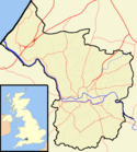 Location map of Bristol.
