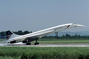 Eine Concorde der British Airways