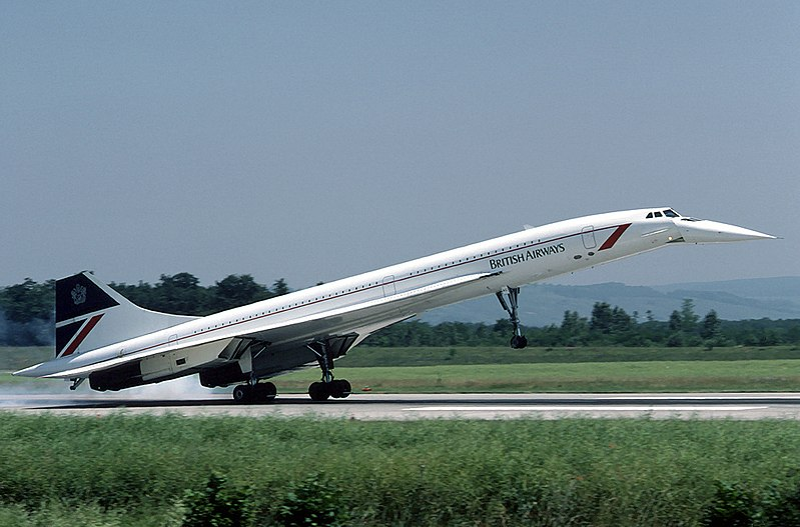 British Airways Concorde G-BOAC.