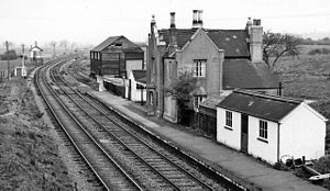 Northampton–Market Harborough line - Brixworth Station in 1965