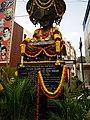 Bronze Statue of Dr Rajkumar, 100 feet Road, DhoopanaHalli Bus Stop, Indiranagar, Bengaluru.jpg