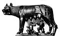 Bronze of Romulus and Remus feeding from a woolf. Wellcome L0001769.jpg