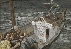 James Tissot: Jesus Stilling the Tempest