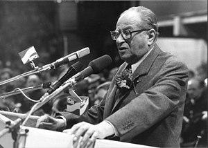 Bruno Kreisky - Kreisky, photographed in 1983