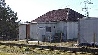 Foss-Eikeland - View of the former railway station in Foss-Eikeland