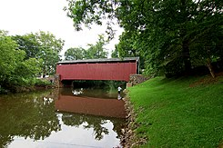 Bucher's Mill Covered Bridge Wide Side View 3008px.jpg
