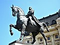 Bucuresti, Romania. BIBLIOTECA CENTRALA UNIVERSITARA si statuia lui Carol I. (B-II-m-B-18598) (3).jpg