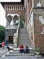 Bucuresti, Romania. PALATUL BRANCOVENESC de la MOGOSOAIA. (Scara spre balcon)(IF-II-a-A-15298).jpg