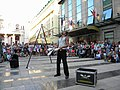 Bucuresti, Romania. Teatrul ODEON. (B-II-m-B-19854) B-FIT IN THE STREET 2018. Bubble Street Cirkus. Artistul Juriy Longhi. (10).jpg