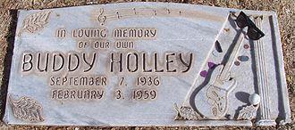 Buddy Holly - Holly's headstone in the City of Lubbock Cemetery
