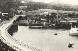 Buffalo River Bridge - East London Harbour - Cape Colony 1875.jpg