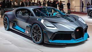 Limited production track focused sports car manufactured by Bugatti based on the Chiron