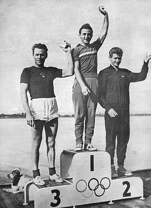 Gennady Bukharin - Bukharin (left) at the 1956 Olympics