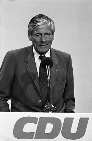 CDU donations scandal - Walther Leisler Kiep, 1989.
