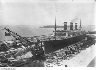 SS Leviathan - Leviathan in drydock, December 1931.