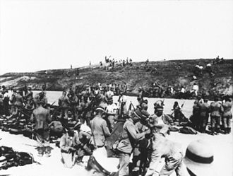 Asian and Pacific theatre of World War I - The German front line at Tsingtao.
