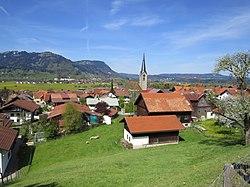Burgberg - Am Sonnenhang - OM, Kirche v SO 03.JPG