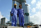 Burj Dubai Construction Workers on 25 January 2008 Pict 2.jpg