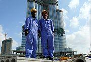 Burj Dubai Construction Workers on 25 January 2008 Pict 2