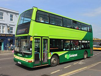 The Buses of Somerset - Plaxton President bodied Dennis Trident 2 in Burnham-on-Sea in May 2014
