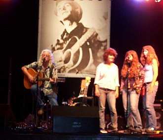 The Burns Sisters - Performing with Arlo Guthrie at the Woody Guthrie Folk Festival. July 14, 2007.