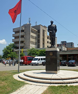 Burrel, Albania - King Zog's monument in the center of Burrel
