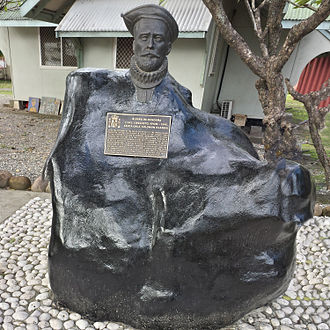 Álvaro de Mendaña de Neira - Bust at Solomon Island museum at Point Cruz