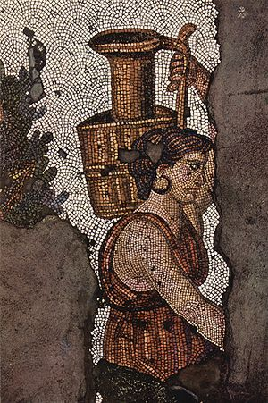 Great Palace Mosaic Museum - Image: Byzantinischer Mosaizist des 5. Jahrhunderts 001