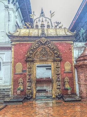 Bhaktapur Durbar Square - The world famous Golden gate of Bhaktapur.