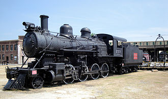 Central of Georgia Railroad: Savannah Shops and Terminal Facilities - Image: CG223 Georgia RR Museum