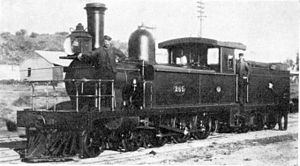 CGR 4th Class 4-6-0TT 1882 - 4th Class 4-6-0TT no. 265 at Cradock, c. 1890