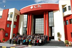 Canadian International College - Image: CIC Front Campus with Employees