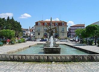 Nelas - The public water fountain in the Praça do Município across from the Câmara Municipal de Nelas