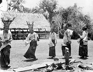 Donggala Regency - Priests perform a ritual in the Bora te Biromaru kampong