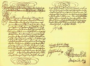 Institute of technology - Founding decree of the Czech Technical University in Prague from January 18, 1707