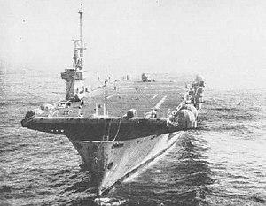 USS Makassar Strait - Makassar Strait as a target ship in the late 1950s