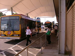 Queensland Rail City network - Kangaroo Bus Lines RailBus at Caboolture