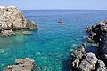 Cala Tramontana from Punta del Vuccolo - San Domino Island, Tremiti, Foggia, Italy - August, 2013 01.jpg
