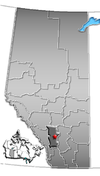 Lage von Calgary in Alberta