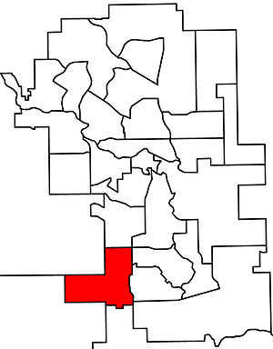 Calgary-Lougheed - 2010 boundaries
