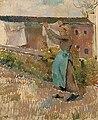 Camille Pissarro - Femme étendant du linge, étude 1887.jpg