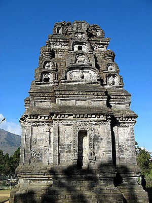 Candi of Indonesia - Bima temple, one of Dieng temples. It was one of the earliest temple in Java.