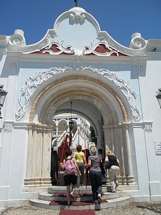 Tinos - The entrance of the church
