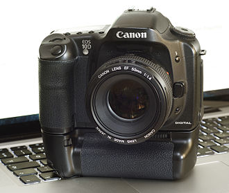 Canon EOS 10D - A 10D with the optional BG-ED3 battery grip.