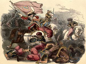 Battle of Tangier (1664) - Capture of a Moorish standard by the Tangier Horse
