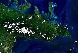 Caramoan Peninsula - Caramoan Peninsula seen from space