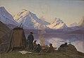 Carl Rasmussen - En grønlandsk boplads ved en fjord. Sommer - KMS1217 - Statens Museum for Kunst.jpg