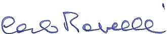 Carlo Rovelli - Image: Carlo Rovelli signature